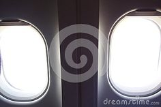 Photo about A minimalist shot of airplane windows from the inside. Image of bright, layers, mono - 71016633