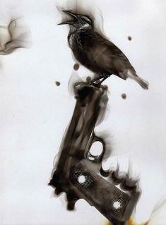 Steven Spazuk #art #bird #gun