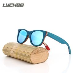 >> Click to Buy << LYCHEE 2016 TOP Brand Designer men wood Sunglasses New Polarized Blue Skateboard Wood sunGlasses Original Box Retro Vintage Eyew #Affiliate