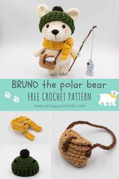 Crochet Bear Patterns, Crochet Patterns For Beginners, Amigurumi Patterns, Crochet Animals, Amigurumi Toys, Kawaii Crochet, Free Crochet, Crochet Bunny, Yarn Tail