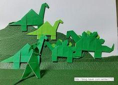 공룡종이접기 .. 파라사우롤로푸스(3) : 네이버 블로그