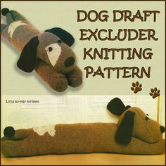 Dog Draught Excluder Knitting Pattern Repro