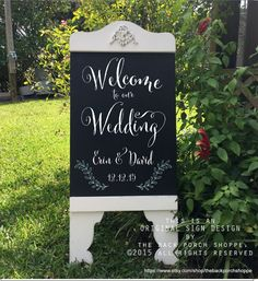 Custom Wedding Sign Welcome to our Wedding by thebackporchshoppe