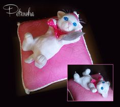 kitty, kitten, cat puppy cake