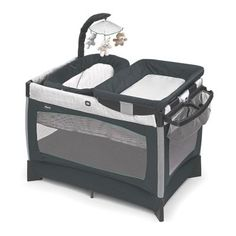 Chicco Lullaby Baby Playard:One great play yard, four pieces of baby gear! Chicco's best-selling 4-in-1 saves money and space, while growing with baby, stage after stage. It features a newborn bed, bassinet, and play yard, plus snap-on changing table with caddy. Thoughtful extras include a mobile for the infant bed, machine washable play yard mattress, and handy, side-mounted diaper caddy....