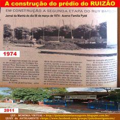 IJUÍ - RS - Memória Virtual: Imagem da segunda etapa da construção do prédio da...