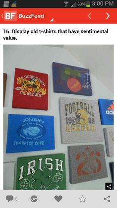 Old t-shirt canvas'
