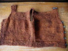 Henry's Pebble Vest, unbuttoned by QueenieVonSugarpants, via Flickr Free Ravelry