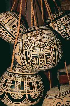 Marquesan handicraft - carved coconut shell