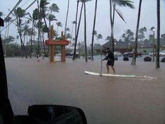 Stand Up Paddleboarding for bad weather in Hawaii!