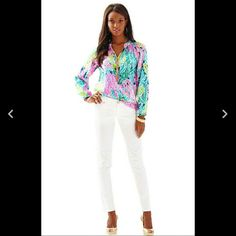 LET'S CHA CHA ELSA SILK BLOUSE LILLY PULITZER NWT! LILLY PULITZER LETS CHA CHA ELSA SILK     BLOUSE/TOP NWT!  SIZE XL   I Paid A LOT!!! For This Mothers Day Present.  My Mother Decided to Go See My Brother And His Wife, So, I Want To Get My Money Back.  Posh Takes a Percentage, so I Haven't Decided If I Want To Sell It. Some Poshers Make Offers That Are Not Reasonable, and Insulting.    I Might Take The Loss, and Let My Feelings Hurt. Lilly Pulitzer Tops Blouses