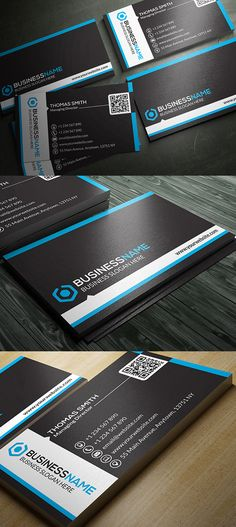 New creative design business cards templates, including print ready Photoshop PSD files. All business cards PSD files are well organized, vector shapes, easy to Create Business Cards, Business Cards Layout, Modern Business Cards, Corporate Business, Business Card Design, Classic Business Card, Name Card Design, Logos Cards, Psd Templates