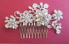 Enter Coupon code: PinFall to receive 10% off on any order! https://www.etsy.com/shop/MissJoansBridal  Wedding Hair Comb  Rhinestone Bridal Hair comb by MissJoansBridal, $57.50
