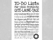 Kunstdruck TO-DO LISTE Gute-Laune-Tage
