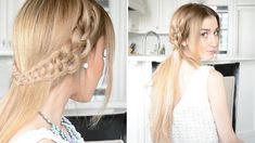 Oktoberfest hairstyles - with our instructions, everything becomes easy Side Hairstyles, Fancy Hairstyles, Ponytail Hairstyles, Bun Updo, Beautiful Hairstyles, Updos, Brunette Bride, Fancy Braids, Prom Hair Updo