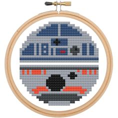 Star Wars R2D2 BB8 Cross Stitch DOWNLOAD Pattern and Instructions – Spot Colors