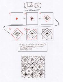 New Tangle: Hako by Lara Williams, Certified Zentangle Teacher