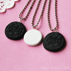 Oreo Best Friends Necklace Set of 3 by BabyLovesPink on Etsy, $35.00