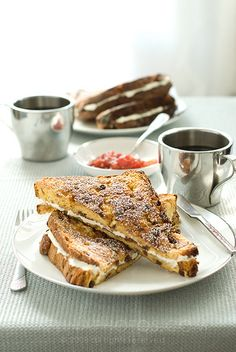 mascarpone stuffed panettone french toast