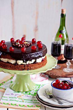Chocolate Drizzle Cherry Sponge Cake   Better Baking Bible