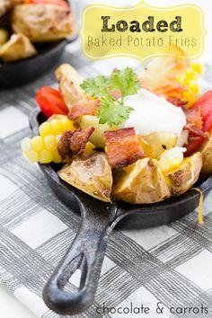 Loaded Baked Potato Fries | chocolateandcarrots.com