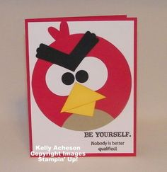 angry bird craft super simple with basic shapes