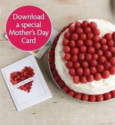 Download a special Mother's Day Card to Celebrate Mom!  Perfect with our Simple Heart Cake!