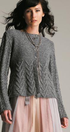 Textured Cardigan in Rowan Felted Tweed Free - Knitting Ideas Rowan Knitting Patterns, Knit Patterns, Hand Knitting, Rowan Felted Tweed, Knit Vest Pattern, Sweater Cardigan, Knit Crochet, Free Pattern, Knits