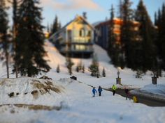 TIlt shift people in the snow at SilverStar | Flickr - Photo Sharing!