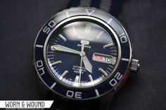 Seiko 5 SNZH53 Diver in Blue. Like it when they add the 'James Bond' NATO strap.