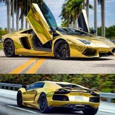Holy Smokes....Gorgeous Gold Lamborghini Aventador http://epiconlineincome.com