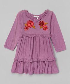 Loving this Purple Flower Boho Dress - Infant, Toddler & Girls on #zulily! #zulilyfinds