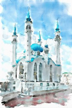 Qolsharif Mosque by piker77, via Flickr    Using technique to hint fluidity in a static object