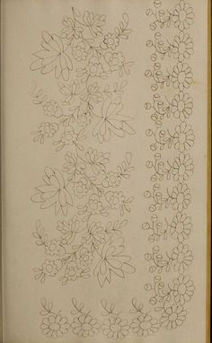 [Book of designs Floral Embroidery Patterns, White Embroidery, Diy Embroidery, Embroidery Stitches, Embroidery Designs, Piping Patterns, Lace Patterns, Thread Painting, Fabric Painting