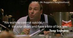 Don Corleone, Mafia Gangster, Tony Soprano, Jokes Quotes, The Godfather, Movie Tv, The Neighbourhood, Tv Shows, Mood