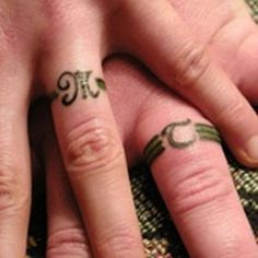 My future wife willing, I think the tattoo ring is a meaningful way of showing that marriage should be a commitment till death.