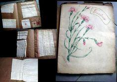 cahier de couture année 1914
