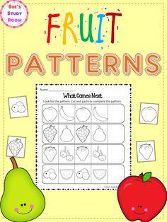 Fruit Patterns Worksheets