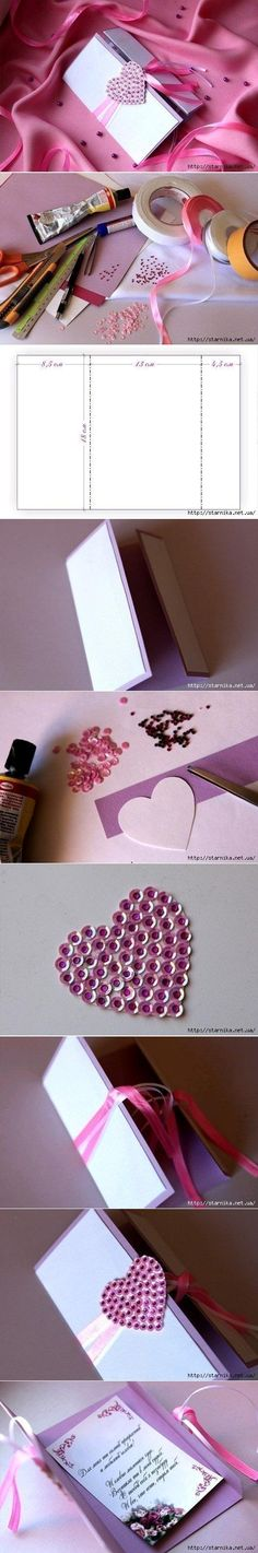 DIY Postcard with Heart