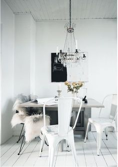 Interior Designer Othilia Thalund's home in Denmark  Image Via: House of Bliss  #White