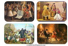 Los Niños: Πϊνακες Αναφοράς - Ήρωες της Επανάστασης και η Επανάσταση μέσα από την Τέχνη 25 March, Greek History, Spring Activities, Greece, Stamp, Children, Yoga Pants, Blog, Crafts