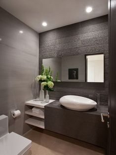 renovation and renovation Modern toilet design for small bathroom ideas - Home and Garden Decoration Contemporary Bathroom Designs, Bathroom Layout, Modern Bathroom Design, Bathroom Interior Design, Bathroom Ideas, Modern Contemporary, Modern Toilet Design, Bathroom Inspo, Bathroom Organization