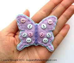 Tutorial and template for making adorable felt butterflies!