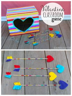 Valentine Classroom game with Apple Barrel Craft Paint - A girl and a glue gun