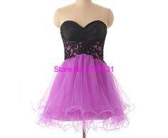 Lace Appliques Short/Mini Organza Homecoming Dresses