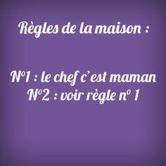 Pour faire court ;) #maman #regles #rules #mum