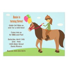 362 Best Horse Birthday Party Invitations Images In 2019 Horse