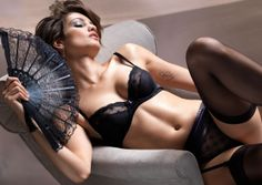 #Sexy Black Sheer & Lacy #Lingerie Set