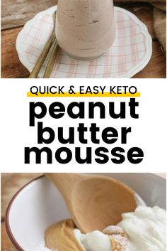 Keto Peanut Butter Mousse - Sweet and comforting, earthy and light as air, it's the kind of dessert that one generous spoonful will put a big smile on your face. Besides being the perfect keto pick-me-up it can also be used as frosting for your favorite keto cakes or pie and tart filling.
