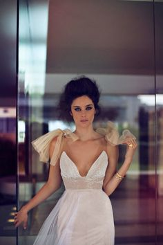 Can I just wear all of these dresses ... <3 PERFECT!!  Modern, Glamourous, Sexy Wedding Dresses By Zahavit Tshuba | Bridal Musings